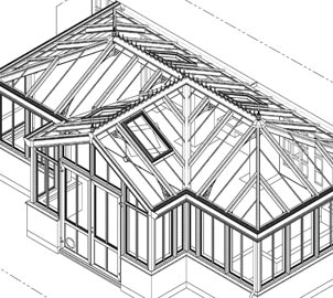 The Conservatory should be built at ground level and are less than 30 square metres in floor area.
