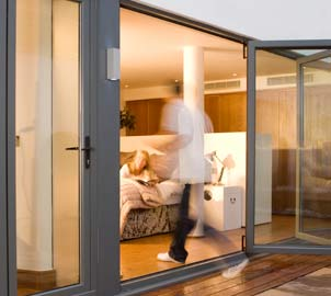 Double glazed Aluminium Bi Fold door colours & finishes for homes in & around London
