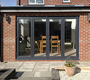 Double glazed Upvc Bi Fold door colours & finishes for homes in & around London