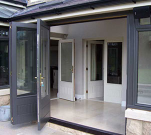 The colour coating is a specially developed spray on paint that bonds perfectly to the bi-folding doors giving a smooth satin finish that forms an extra protective coating that never needs re-painting.