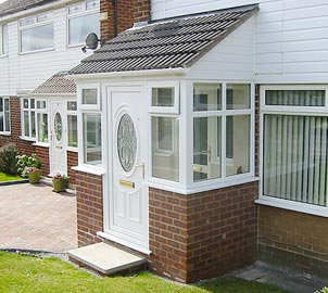 UPVC & brick porches from Taylorglaze are individually designed to match the character of your home and made to measure.