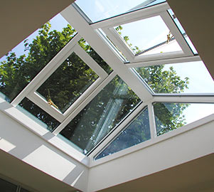 Our roof lanterns use the most advanced glazing and sealing techniques